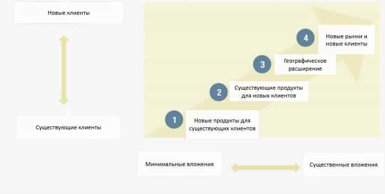 Схема диверсификации компании