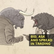 Bid, ask and spread in trading