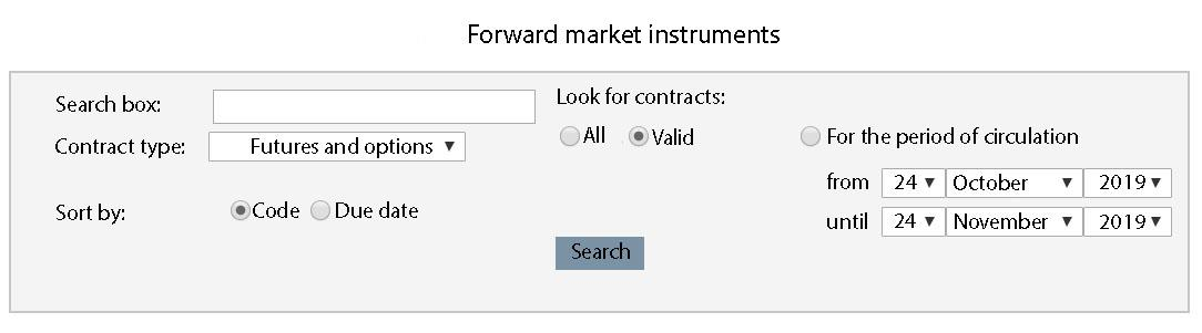 Resource about the forward market instruments