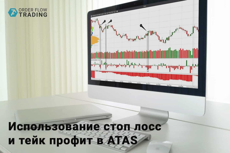 Использование стоп лосс и тейк профит в ATAS