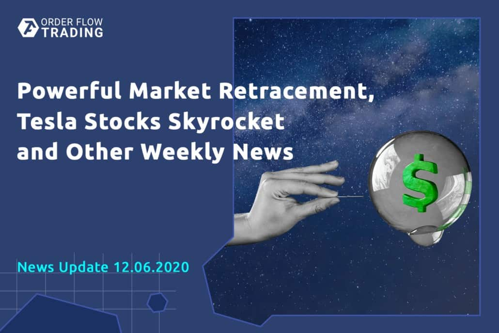 Front-page weekly events: economic surprises, powerful market retracement, Tesla stock skyrocketed