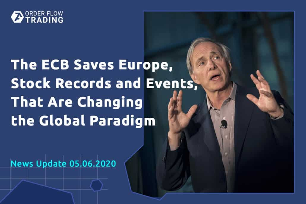 ECB saves Europe, stock records and events, which facilitate the global paradigm shift