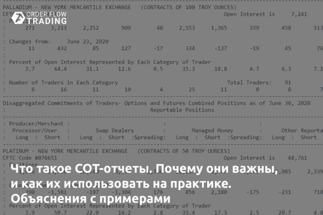 Что такое COT-отчеты. Почему они важны, и как их использовать на практике. Объяснения с примерами