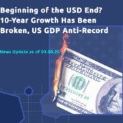 Beginning of the USD end? 10-year growth has been broken, US GDP anti-record