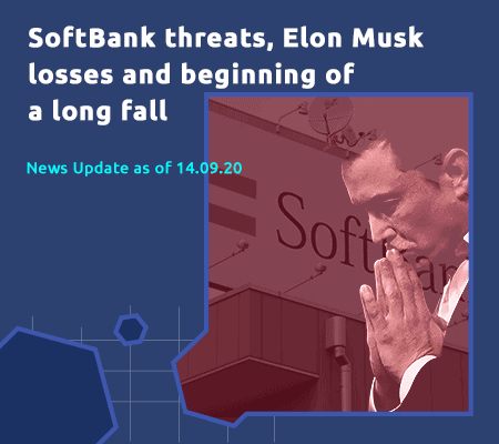 SoftBank threatens all financial markets. Elon Musk already lost USD 16 billion in one day! How long will the long fall last?
