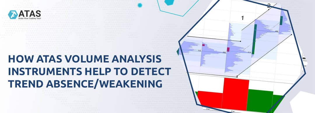 How ATAS volume analysis instruments help to detect trend absence/weakening