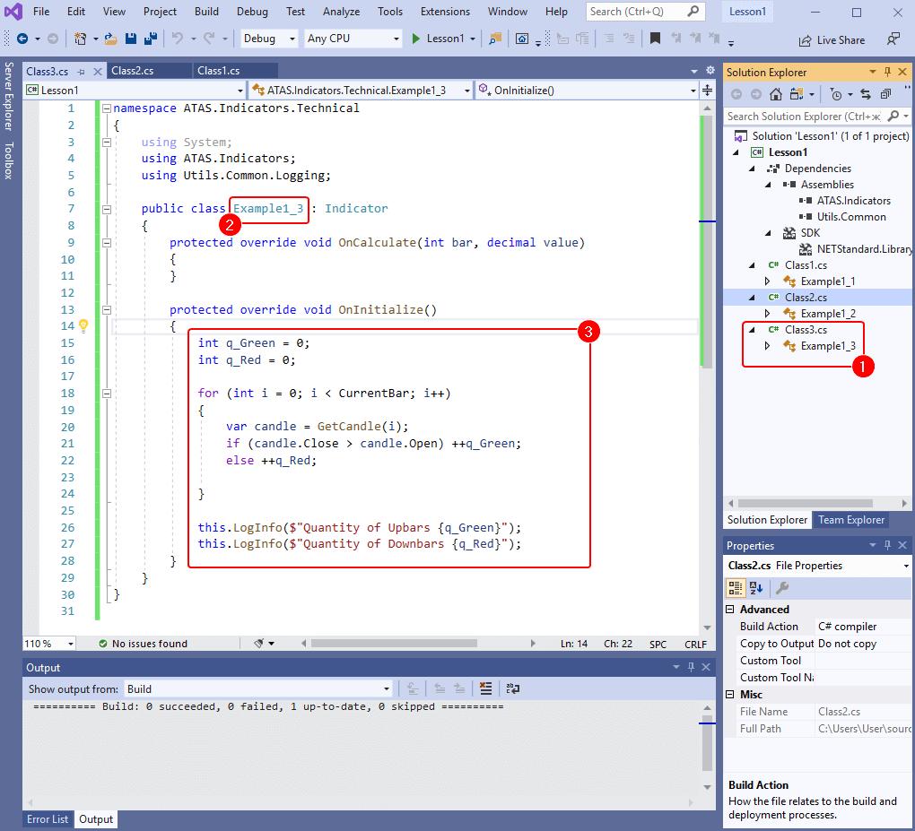 Код третьей программы для ATAS