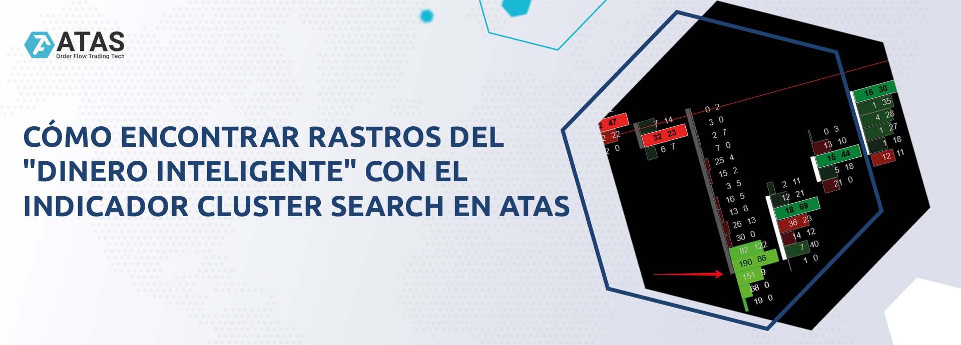 """Cómo encontrar rastros del """"dinero inteligente"""" con el indicador Cluster Search en ATAS"""