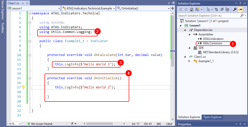 Editing the indicator code