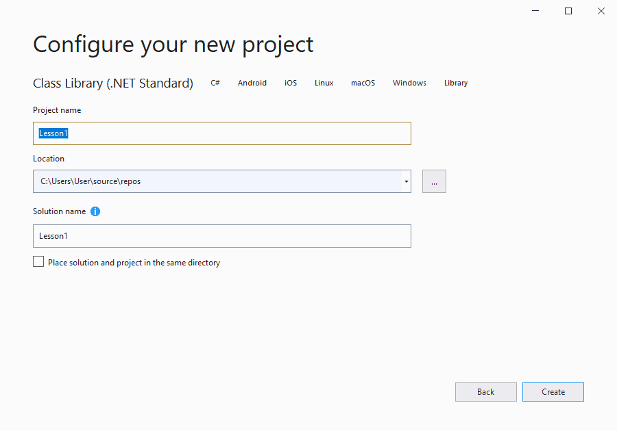 How to create a new project