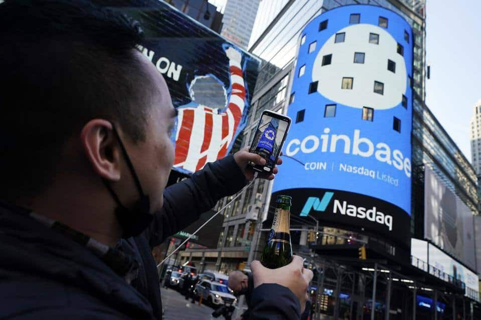 Листинг акций Coinbase на бирже Nasdaq