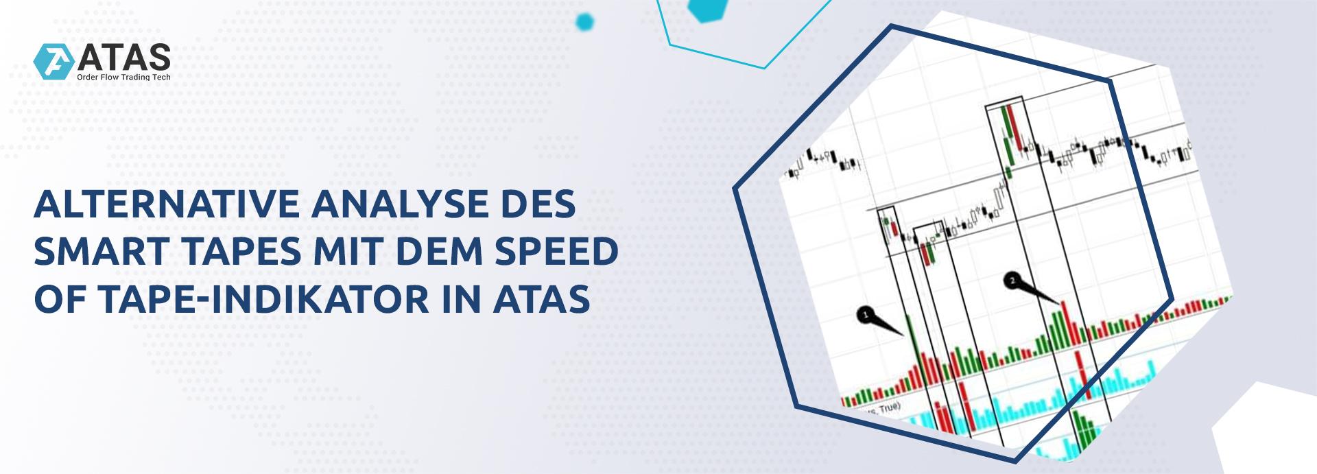 Alternative Analyse des Smart Tapes mit dem Speed of Tape-Indikator in ATAS