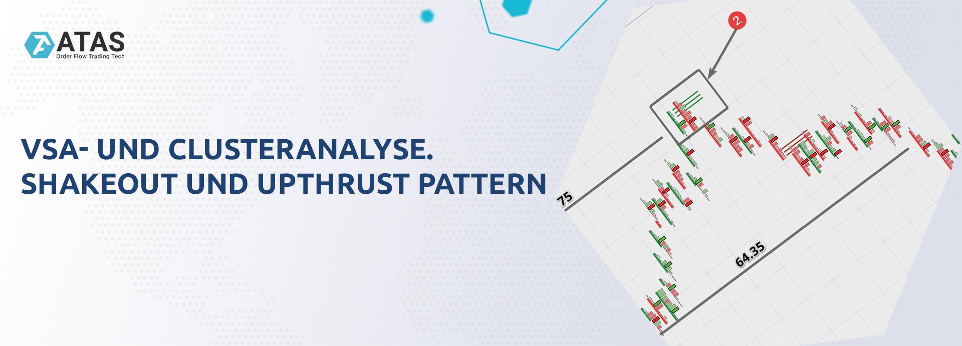 VSA- und Clusteranalyse. Shakeout und Upthrust Pattern