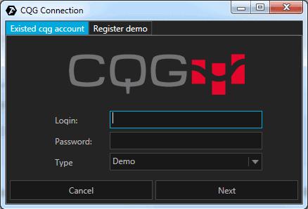 CQG setup
